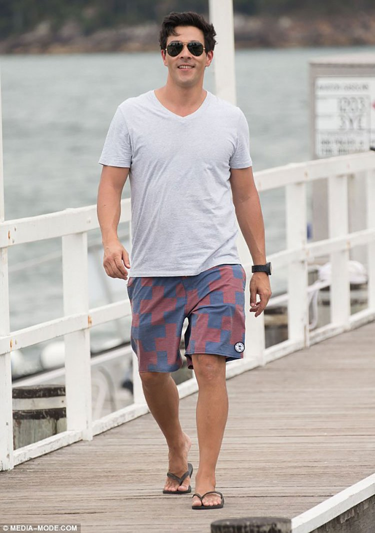James Stewart on set of Home and Away