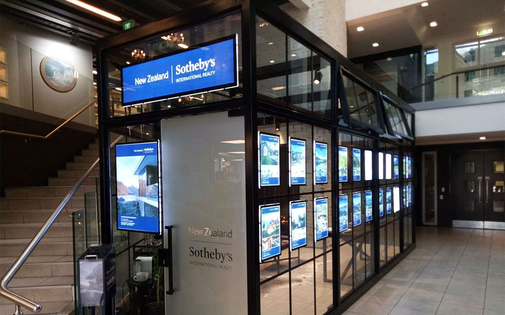 LED Display Screens at Sotheby's NZ