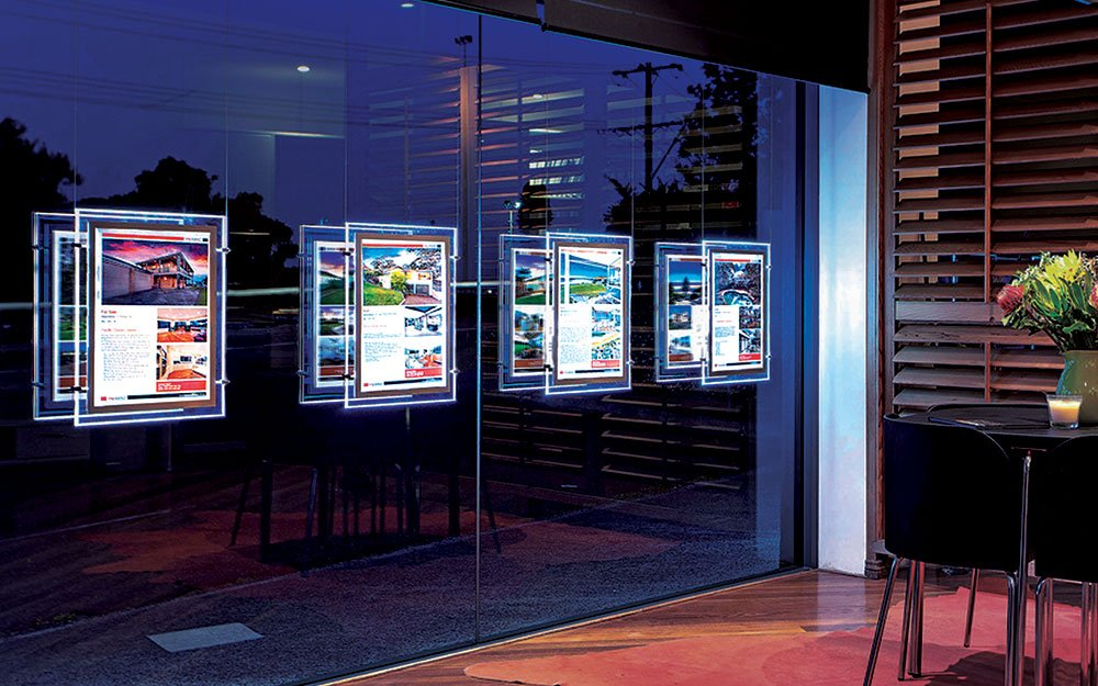 A2 LED Display Screens in Store front