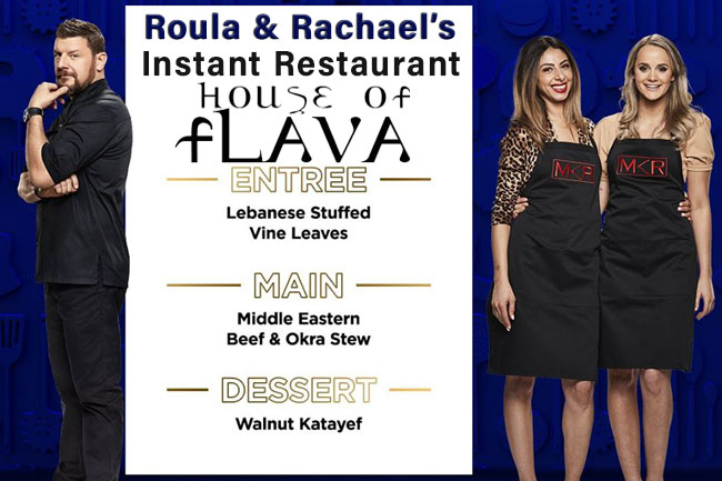 Roula & Rachael Menu